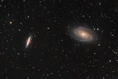 M82 (Cigar Galaxy) and M81 (Bode's Galaxy) in Ursa Major