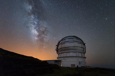GTC (Gran telescopio Canarias) Roque de los muchacho, La Palma.