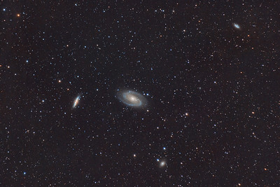M82 (Cigar Galaxy),  M81 (Bode's Galaxy), NGC 3077, and NGC 2976 in Ursa Major