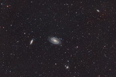 M82 (Cigar Galaxy),  M81 (Bode's Galaxy), NGC 3077, and NGC 2976 in Ursa Major