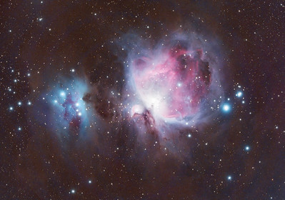 Orion Nebula (M42) and Running Man Nebula (NGC 1977)
