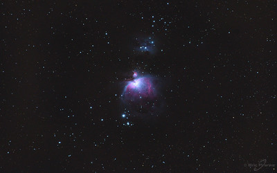 Great Nebula in Orion & Running Man. 17 minutes total exposure.