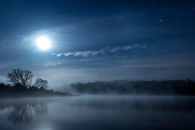 Moonlit Night at Badger Creek