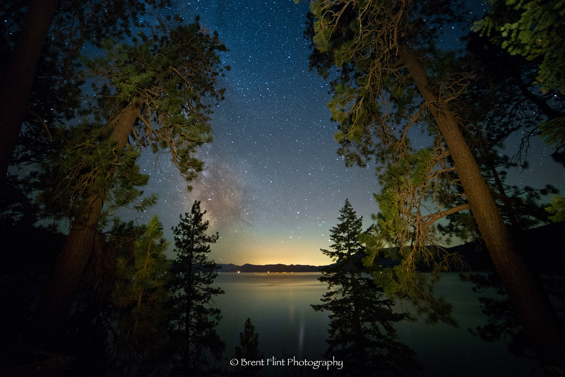 DF.4008 - Milky Way over Lake Pend Oreille, Kaniksu National Forest, Idaho.