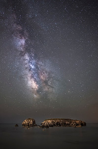 Milky way above stumbling block