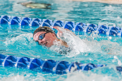 Junior Margot Adams competes in the 200-yard freestyle event during the Nanooks' meet against Loyola Marymount in the Patty Pool.  Filename: ATH-13-3991-91.jpg