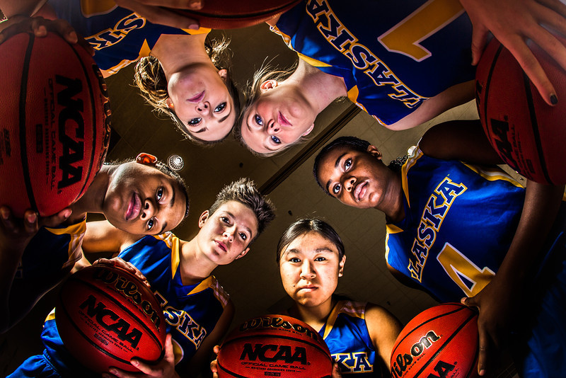 "Members of the Lady Nanooks pose for a promotional photo in the Patty Center gym.  <div class=""ss-paypal-button"">Filename: ATH-12-3625-230.jpg</div><div class=""ss-paypal-button-end"" style=""""></div>"