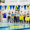 "A group of student athletes support the women's swim team during a meet at the Patty Center.  <div class=""ss-paypal-button"">Filename: ATH-14-4050-47.jpg</div><div class=""ss-paypal-button-end""></div>"
