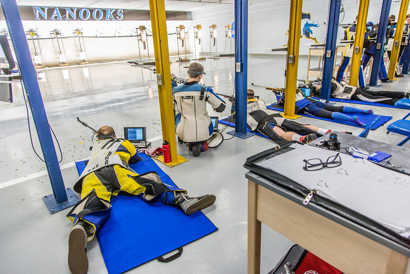 "The Nanooks' rifle team competes against the Citidel Jan. 20 in the E.F. Horton Rifle Range on the Fairbanks campus.  <div class=""ss-paypal-button"">Filename: ATH-14-4042-89.jpg</div><div class=""ss-paypal-button-end"" style=""""></div>"