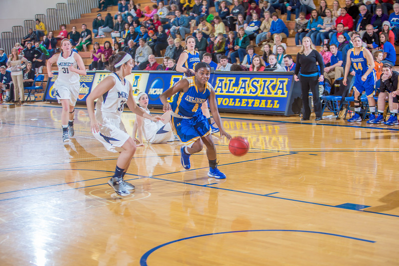 """Sophomore Benissa Bulaya drives toward the hoop during second half action in the Nanooks' game against the Colorado School of Mines in the Patty Center.  <div class=""""ss-paypal-button"""">Filename: ATH-12-3639-95.jpg</div><div class=""""ss-paypal-button-end"""" style=""""""""></div>"""