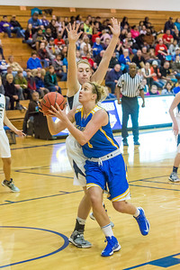 Senior Taylor Altenburg drives around her defender during first half action in the Nanooks' game against the Colorado School of Mines in the Patty Center.  Filename: ATH-12-3639-13.jpg
