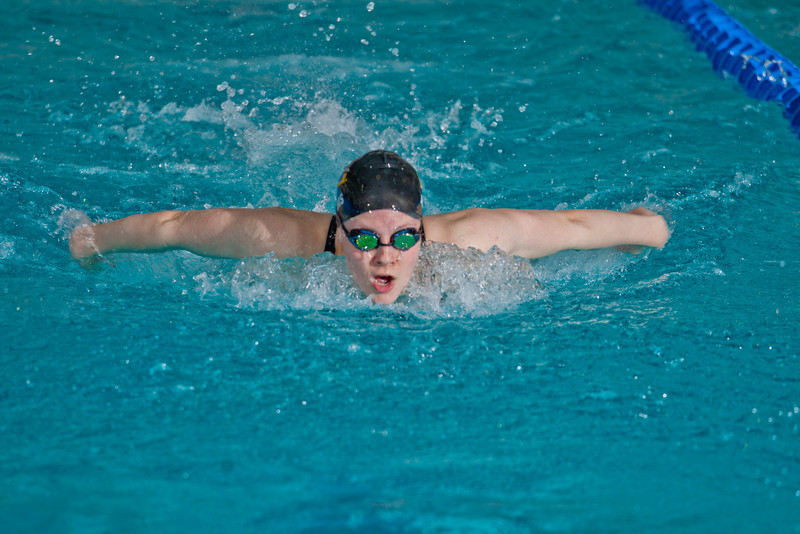 "Freshman Margot Adams won the 100-yard butterfly event for the Nanooks during their dual meet against Colorado Mesa in the Patty pool.  <div class=""ss-paypal-button"">Filename: ATH-12-3267-105.jpg</div><div class=""ss-paypal-button-end"" style=""""></div>"