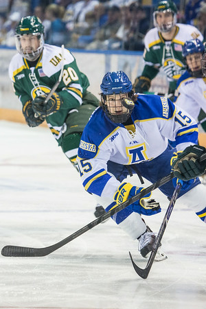 Alaska Nanooks Mens Hockey Team and the SeaWolves face off at the Carlson Center.  Filename: ATH-14-4118-5.jpg