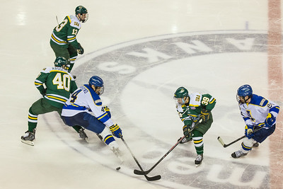 Alaska Nanooks Mens Hockey Team and the SeaWolves face off at the Carlson Center.  Filename: ATH-14-4118-44.jpg