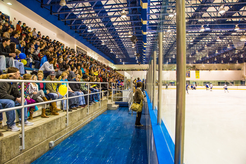 """The Patty Ice Arena was almost filled to capacity for the Blue vs. Gold hockey game held during the Starvation Gulch weekend.  <div class=""""ss-paypal-button"""">Filename: ATH-12-3570-165.jpg</div><div class=""""ss-paypal-button-end"""" style=""""""""></div>"""
