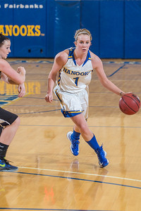 Taylor Altenburg drives toward the hoop against Montana State Billings.  Filename: ATH-13-3720-5.jpg