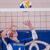 "Freshman Katlyn Mataya sets up a teammate at the net during the Nanooks' match against Montana State-Billings in the Patty Center.  <div class=""ss-paypal-button"">Filename: ATH-12-3638-130.jpg</div><div class=""ss-paypal-button-end"" style=""""></div>"