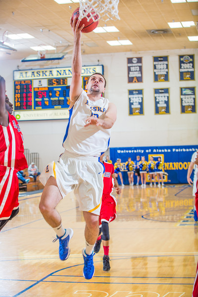 "Forward Stefan Tica goes up for an open layup against Simon Fraser during another Nanook win in the Patty Gym.  <div class=""ss-paypal-button"">Filename: ATH-14-4029-127.jpg</div><div class=""ss-paypal-button-end"" style=""""></div>"