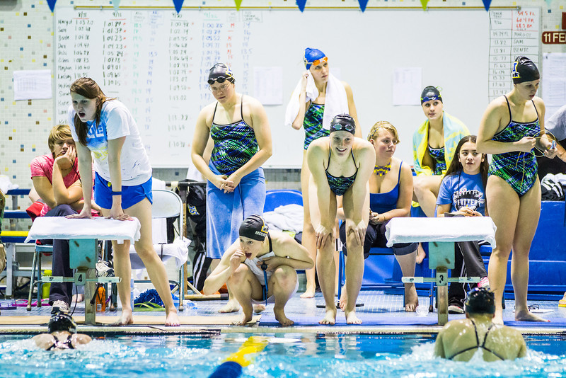 """Nanook swimmers take part in a friendly but fierce competition during the 2012 Blue and Gold Swim Meet Saturday, Oct. 13 at the Patty Center.  <div class=""""ss-paypal-button"""">Filename: ATH-12-3588-79.jpg</div><div class=""""ss-paypal-button-end"""" style=""""""""></div>"""
