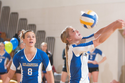 Senior Allison Oddy returns a tough shot during the Nanooks' match against Montana State-Billings in the Patty Center.  Filename: ATH-12-3638-172.jpg