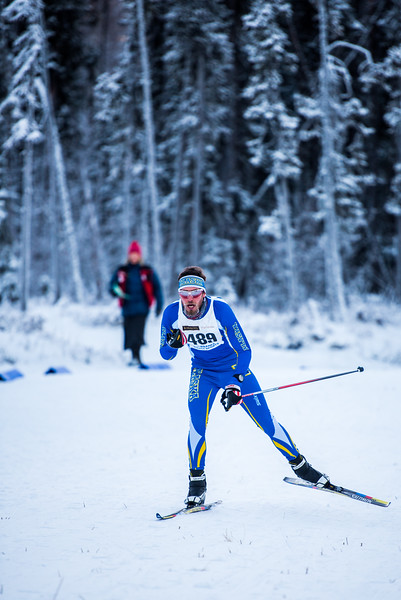 """Alexander Eckert prepares to tuck down a hill during the men's 8.5km race during day one of the Nordic Cup at Birch Hill on Nov. 19, 2016.  <div class=""""ss-paypal-button"""">Filename: ATH-16-5069-60.jpg</div><div class=""""ss-paypal-button-end""""></div>"""