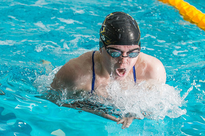 Junior Danielle Lyons took second in the 400-yard individual medley during the Nanooks' meet against Loyola Marymount in the Patty Pool.  Filename: ATH-13-3991-140.jpg