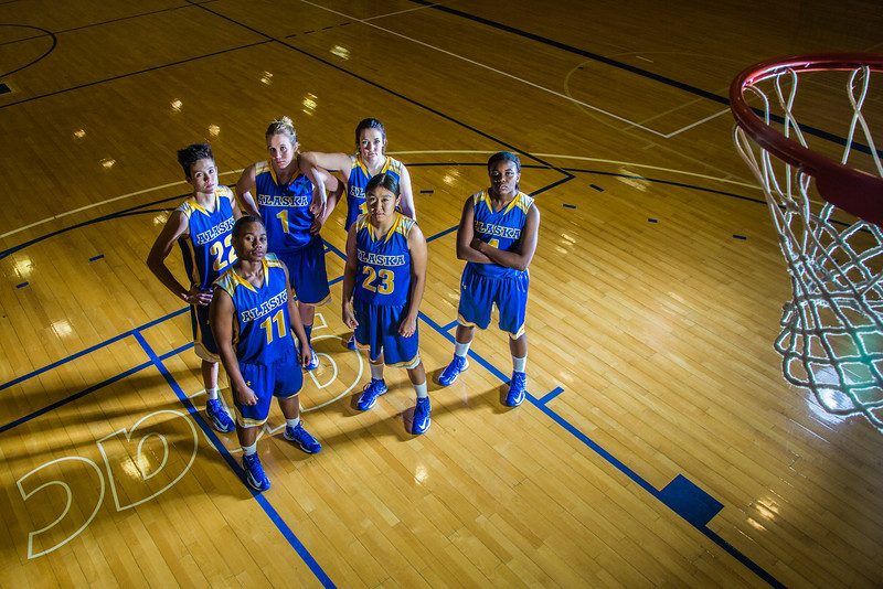 """From left to right, Jacqueline Lovato, #22, Teanna Boxley, #11, Taylor Altenburg, #1, Kelly Logue, Marissa Atoruk, #23 and Benissa Bulaya of the Lady Nanooks.  <div class=""""ss-paypal-button"""">Filename: ATH-12-3625-020.jpg</div><div class=""""ss-paypal-button-end"""" style=""""""""></div>"""