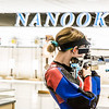 "Sophomore Jamie Barnes competes in the air rifle event during the Nanooks' meet against the Citidel Jan. 20 in the E.F. Horton Rifle Range on the Fairbanks campus.  <div class=""ss-paypal-button"">Filename: ATH-14-4042-72.jpg</div><div class=""ss-paypal-button-end"" style=""""></div>"
