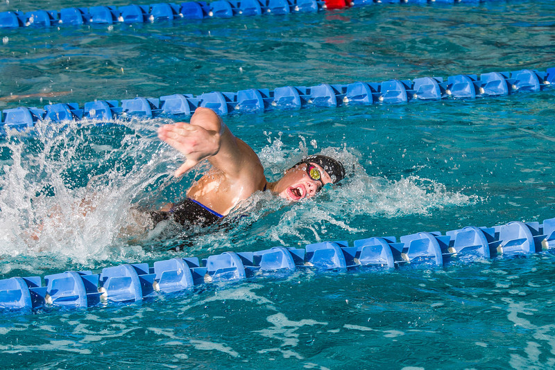 """Senior Bente Heller pushes won the 100-yard freestyle event during the Nanooks' meet against Loyola Marymount in the Patty Pool.  <div class=""""ss-paypal-button"""">Filename: ATH-13-3991-160.jpg</div><div class=""""ss-paypal-button-end"""" style=""""""""></div>"""