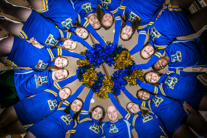 "The UAF cheerleading squad performs a variety of poses and routines during a practice session in the Patty Gym.  <div class=""ss-paypal-button"">Filename: ATH-13-3751-313.jpg</div><div class=""ss-paypal-button-end"" style=""""></div>"