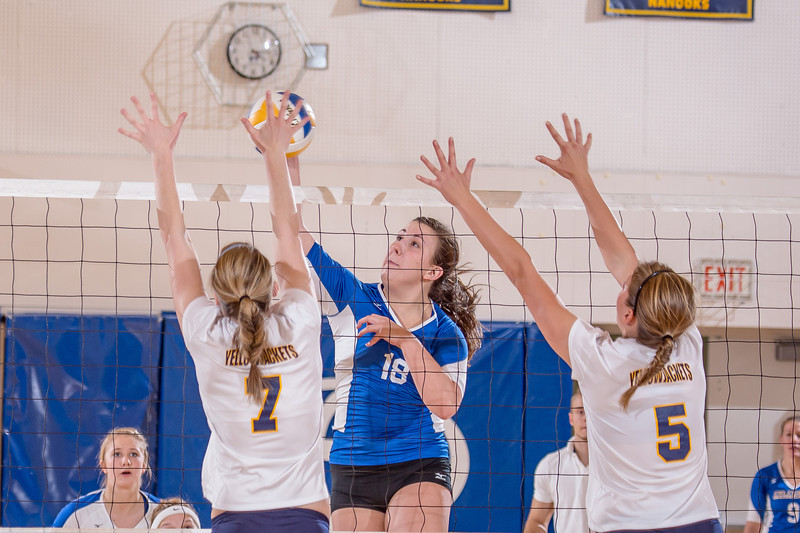 """Freshman Megan Morrison skies for a kill during the Nanooks' match against Montana State-Billings in the Patty Center.  <div class=""""ss-paypal-button"""">Filename: ATH-12-3638-125.jpg</div><div class=""""ss-paypal-button-end"""" style=""""""""></div>"""