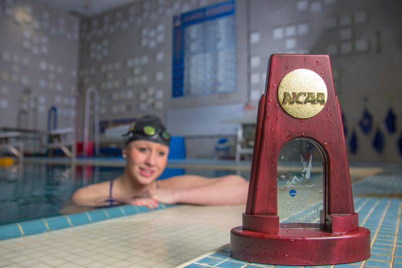 """UAF's Bente Heller claimed the first national championship in the program's history, claiming the title in the women's 100 meter backstroke at the NCAA Div II championships in Birmingham, AL.  <div class=""""ss-paypal-button"""">Filename: ATH-13-3758-60.jpg</div><div class=""""ss-paypal-button-end"""" style=""""""""></div>"""