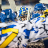 """UAF Mens Hockey Team sports on blue camouflage jerseys as part of a 10-day military appreciation event hosted by the Alaska Nanooks at a game against Western Michigan Nov. 16, 2012 at the Carlson Center.  <div class=""""ss-paypal-button"""">Filename: ATH-12-3656-13.jpg</div><div class=""""ss-paypal-button-end"""" style=""""""""></div>"""