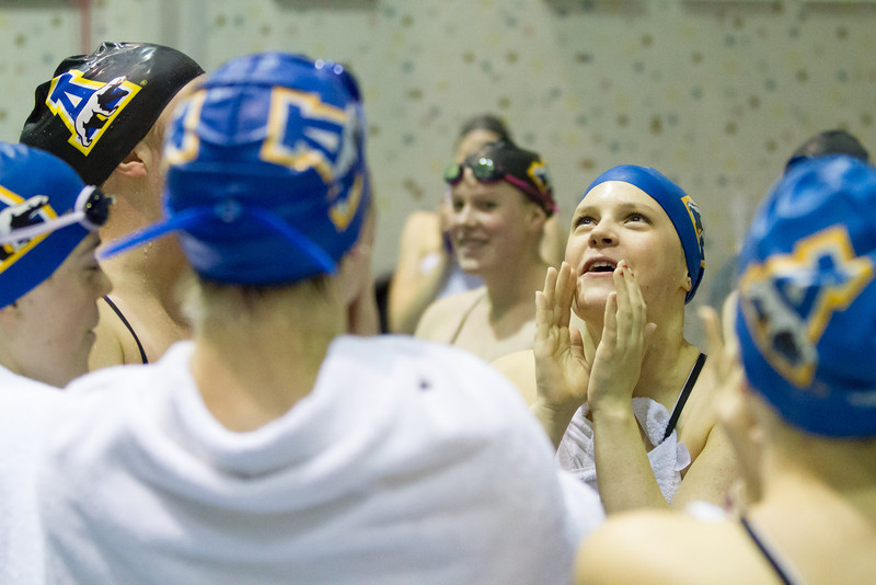 "Nanook swimmers take part in a friendly but fierce competition during the 2012 Blue and Gold Swim Meet Saturday, Oct. 13 at the Patty Center.  <div class=""ss-paypal-button"">Filename: ATH-12-3588-21.jpg</div><div class=""ss-paypal-button-end"" style=""""></div>"
