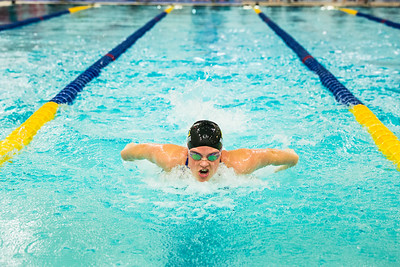 Nanook swimmers take part in a swim meet at the Patty Center pool.  Filename: ATH-14-4050-67.jpg