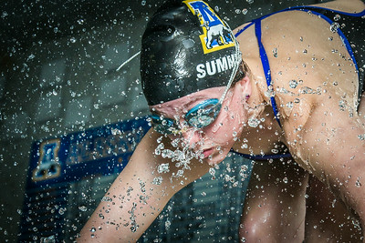 Nanook swimmer Gabi Summers poses at the Patty Pool.  Filename: ATH-14-4170-141.jpg