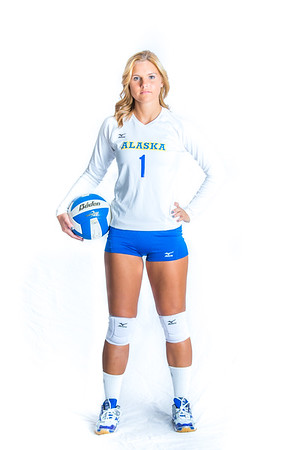 Miranda Grieser, a setter from Maple Valley, Washington, led the Nanooks in assists during her senior season in 2015.  Filename: ATH-15-4615-046.jpg