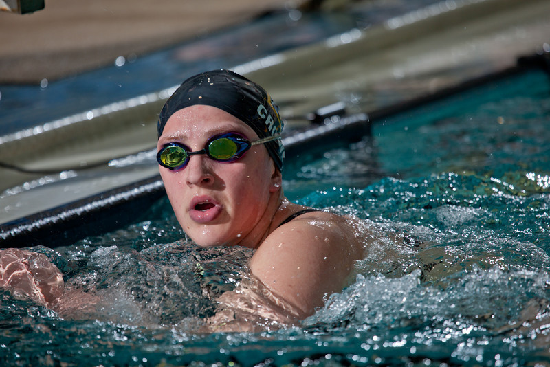 "Sophomore Ashley Crowe won the 1000-yard freestyle event for the Nanooks during their dual meet against Colorado Mesa in the Patty pool.  <div class=""ss-paypal-button"">Filename: ATH-12-3267-066.jpg</div><div class=""ss-paypal-button-end"" style=""""></div>"