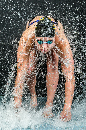 Nanook swimmer Bente Heller poses at the Patty Pool.  Filename: ATH-14-4170-28.jpg