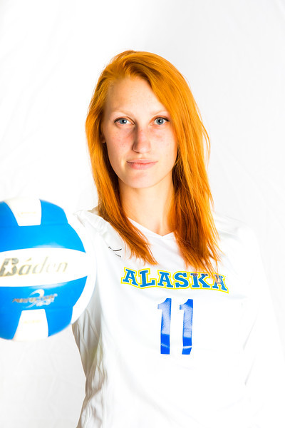 """Sam Harthun finished her Nanooks Volleyball career with a host of Nanook and GNAC (Great Northwest Athletic Conference) records, including most career kills, most kills in a five-set match, most points in a five-set match, total points and several other school records.  <div class=""""ss-paypal-button"""">Filename: ATH-15-4615-003.jpg</div><div class=""""ss-paypal-button-end""""></div>"""