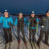 """From left to right, UAF freshmen Hannah Stevens, Mia Anderson, Maddy Pfeifer and Nick Lovett get in some practice time on the UAF ski trails.  <div class=""""ss-paypal-button"""">Filename: ATH-13-4013-76.jpg</div><div class=""""ss-paypal-button-end"""" style=""""""""></div>"""