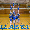 "The 2014 Nanook cheerleaders pose in the Patty Gym.  <div class=""ss-paypal-button"">Filename: ATH-14-4044-66.jpg</div><div class=""ss-paypal-button-end"" style=""""></div>"