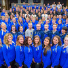 """The 2013-2014 UAF Student Athletes gather for a group photo at Schaible Auditorium.  <div class=""""ss-paypal-button"""">Filename: ATH-13-3939-7.jpg</div><div class=""""ss-paypal-button-end"""" style=""""""""></div>"""
