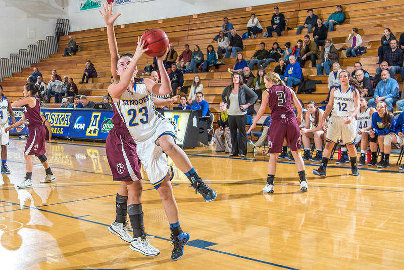 "Freshman forward Jordan Wilson gets past her defender to score two of her game high 25 points during the Nanooks' first GNAC game of the season against Seattle Pacific.  <div class=""ss-paypal-button"">Filename: ATH-13-4015-86.jpg</div><div class=""ss-paypal-button-end"" style=""""></div>"