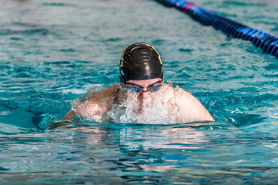 Junior Danielle Lyons took second in the 400-yard individual medley during the Nanooks' meet against Loyola Marymount in the Patty Pool.  Filename: ATH-13-3991-130.jpg