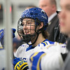 "Freshman Shawn Hochhausen follows the action from the bench during the Nanooks' game against the Mercyhurst Lakers in the Patty Ice Arena.  <div class=""ss-paypal-button"">Filename: ATH-13-3982-89.jpg</div><div class=""ss-paypal-button-end"" style=""""></div>"
