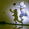 "The Nanook mascot practices his basketball skillset in the Patty Gym.  <div class=""ss-paypal-button"">Filename: ATH-13-3850-70.jpg</div><div class=""ss-paypal-button-end"" style=""""></div>"