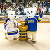 "Nanook mascots big and small pose with the Governor's Cup.  <div class=""ss-paypal-button"">Filename: ATH-14-4109-337.jpg</div><div class=""ss-paypal-button-end""></div>"
