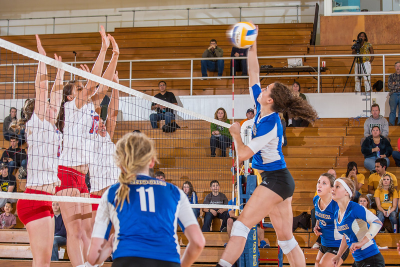 """Junior Keri Knight goes up for a kill during the Nanooks' win over Simon Fraser in the Patty Center.  <div class=""""ss-paypal-button"""">Filename: ATH-12-3581-148.jpg</div><div class=""""ss-paypal-button-end"""" style=""""""""></div>"""