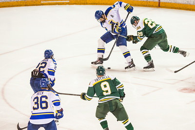 Alaska Nanooks Mens Hockey Team and the SeaWolves face off at the Carlson Center.  Filename: ATH-14-4118-45.jpg